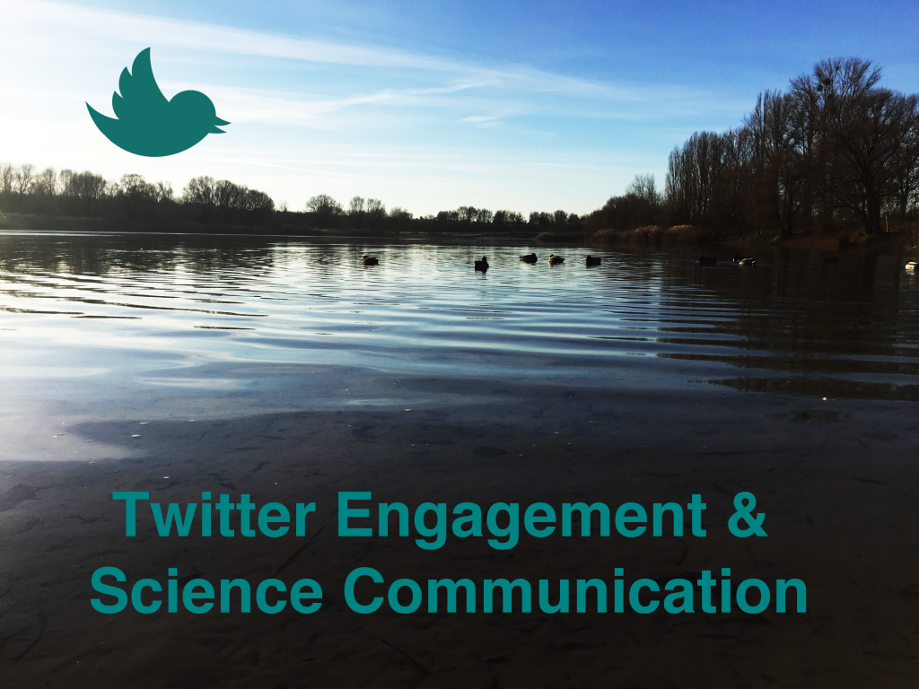 Photo of a lake in Berlin with ducks and the Twitter icon