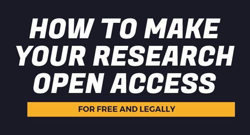 How to make your research Open Access - infographic