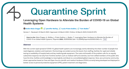 Day 8: Leveraging Open Hardware to Alleviate the Burden of COVID-19 on Global Health Systems