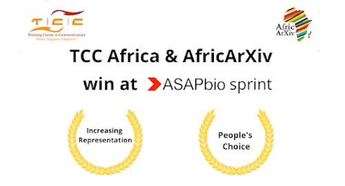 TCC Africa & AfricArXiv win at ASAPbio sprint